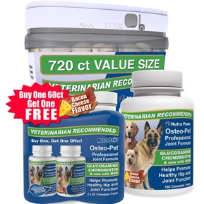 Glucosamine for dogs with Chondroitin - Osteo Pet Professional Joint Formula all products.
