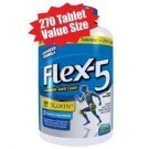Flex-5 is Glucosamine Chondroitin, MSM, 5-LOXIN® and a Joint Flare-up Complex in a 270ct Value Size