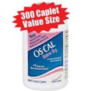 Os-Cal® Calcium Carbonate with Vitamin D - 300 Caplet Value Size