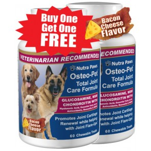 Glucosamine for dogs with Chondroitin MSM & More - Osteo Pet Total Joint Care Formula.