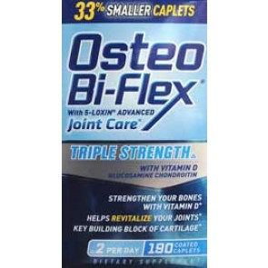 Osteo Bi-Flex Triple Strength with Glucosamine, Chondroitin, MSM, Hyaluronic Acid and 5-LOXIN